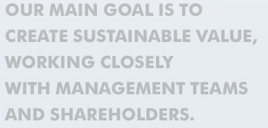 Our Main Goal Is To Create Sustainable Value
